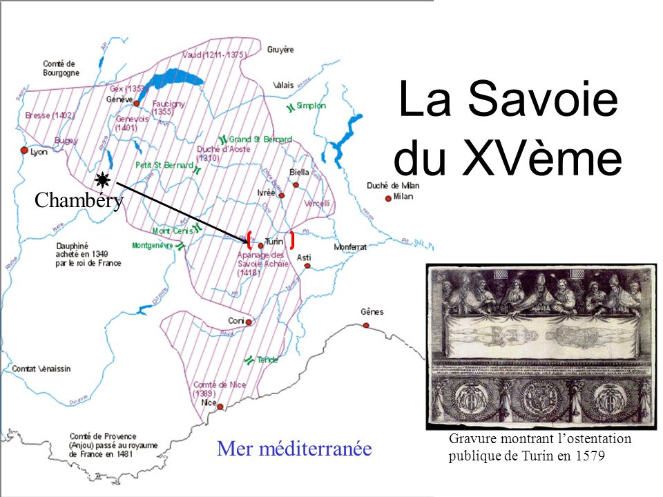 La Savoie du XVème Chambéry Mer méditerranée