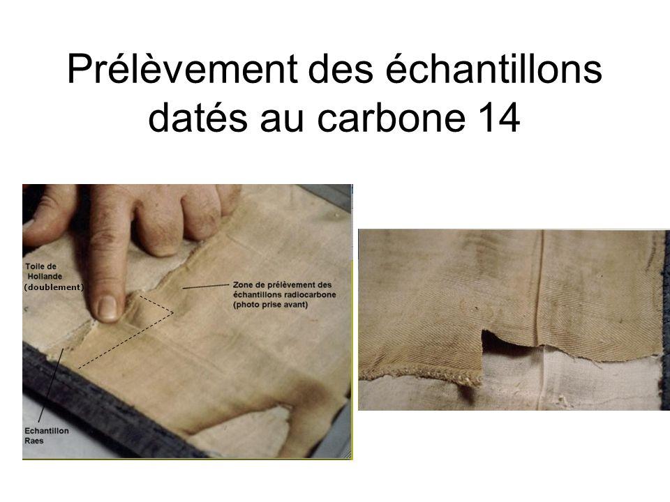 Prélèvement des échantillons datés au carbone 14