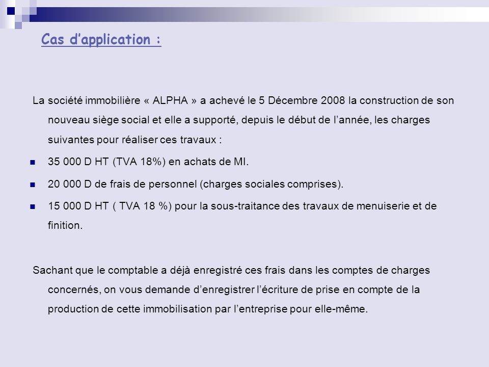 Cas d'application :