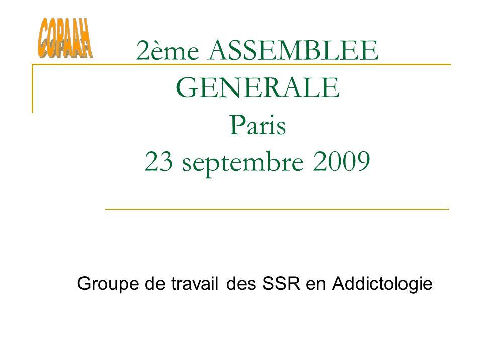 2ème ASSEMBLEE GENERALE Paris 23 septembre 2009