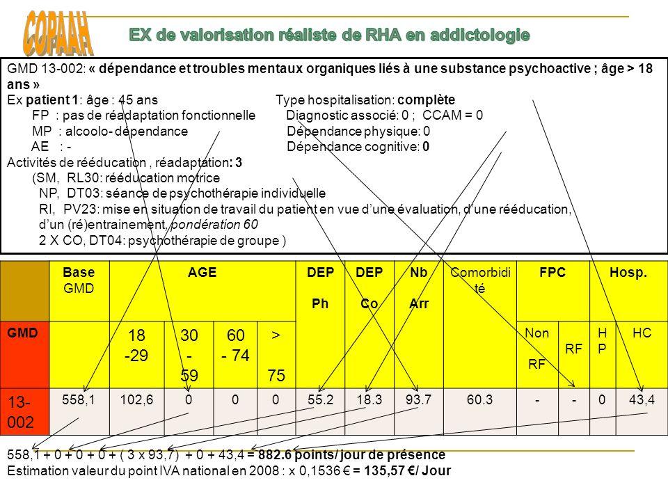 COPAAH EX de valorisation réaliste de RHA en addictologie 18 -29 30 -
