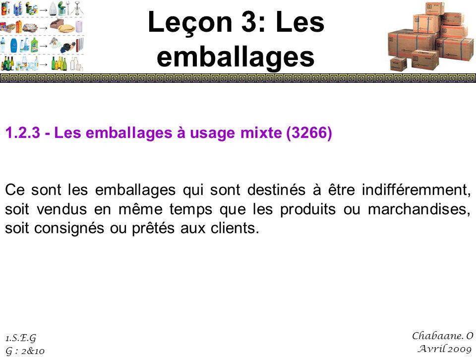 Leçon 3: Les emballages 1.2.3 - Les emballages à usage mixte (3266)