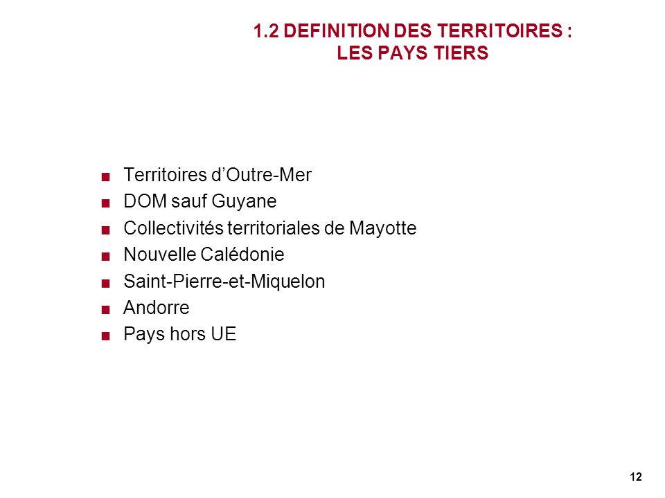 1.2 DEFINITION DES TERRITOIRES : LES PAYS TIERS