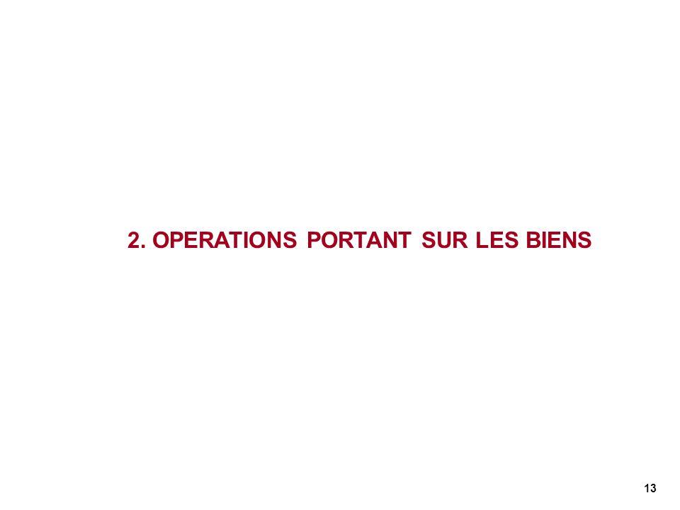 2. OPERATIONS PORTANT SUR LES BIENS