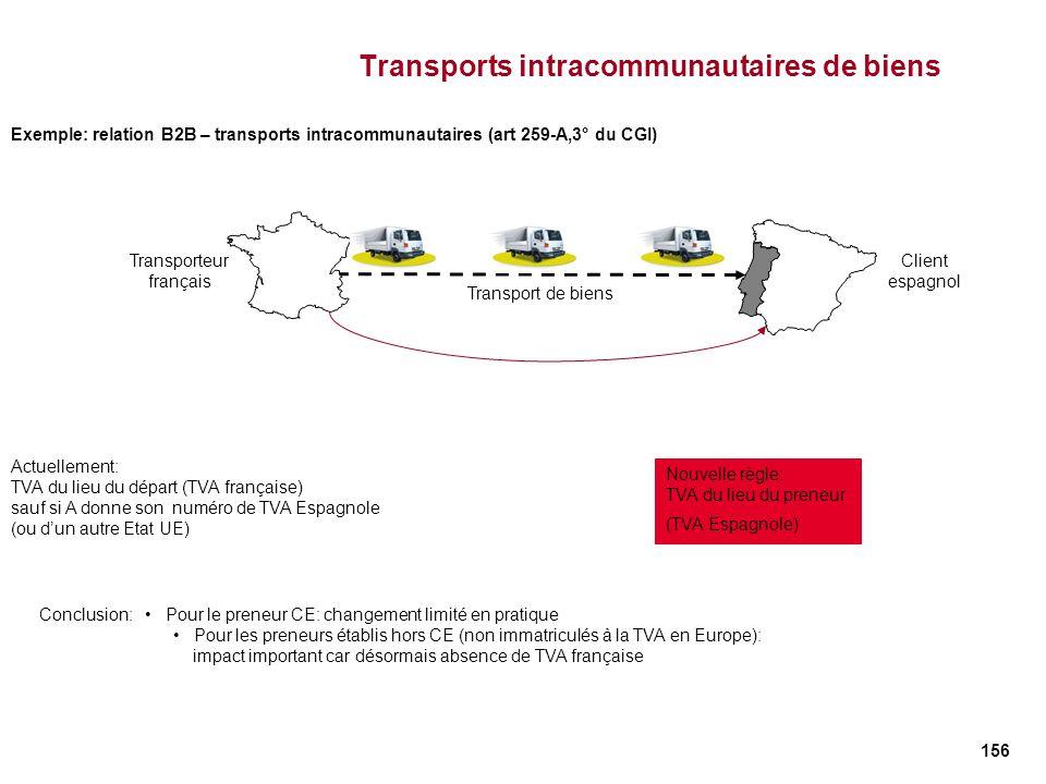 Transports intracommunautaires de biens