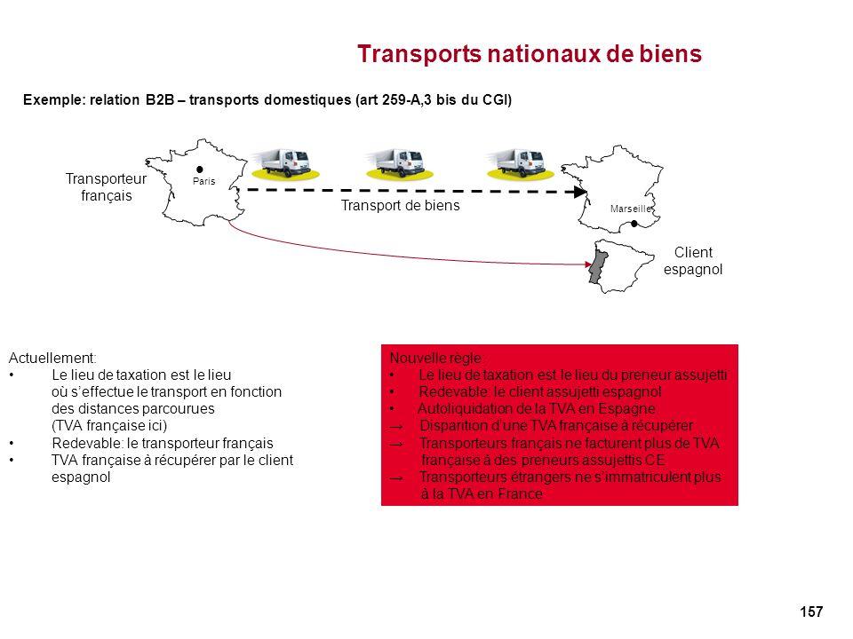 Transports nationaux de biens
