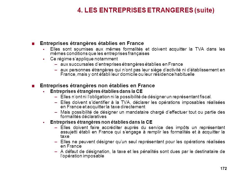 4. LES ENTREPRISES ETRANGERES (suite)