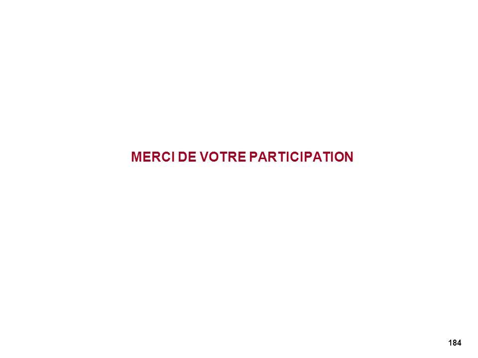 MERCI DE VOTRE PARTICIPATION