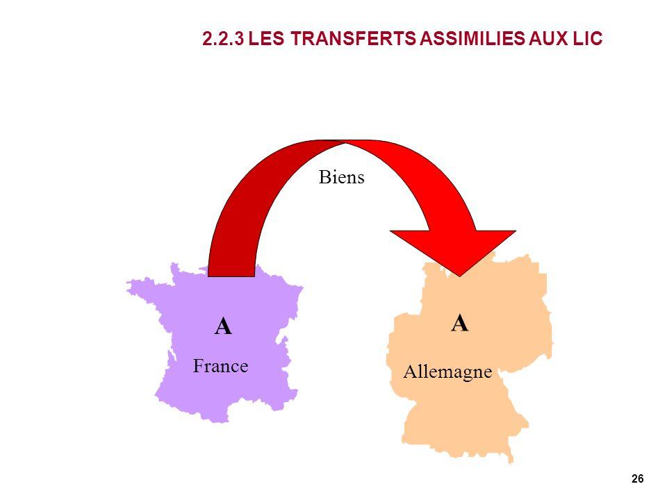 2.2.3 LES TRANSFERTS ASSIMILIES AUX LIC