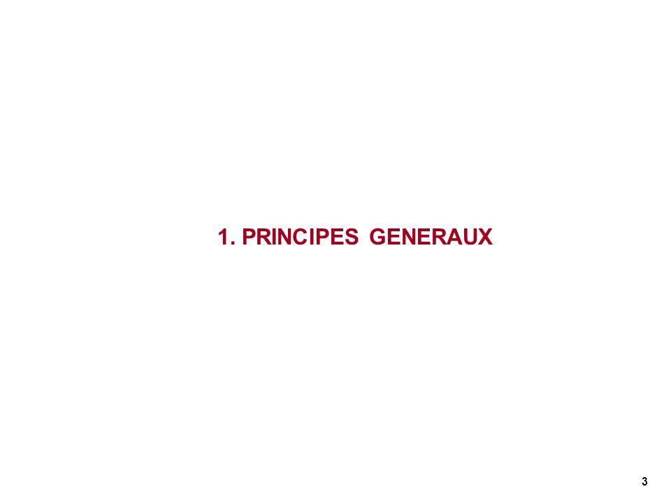 1. PRINCIPES GENERAUX