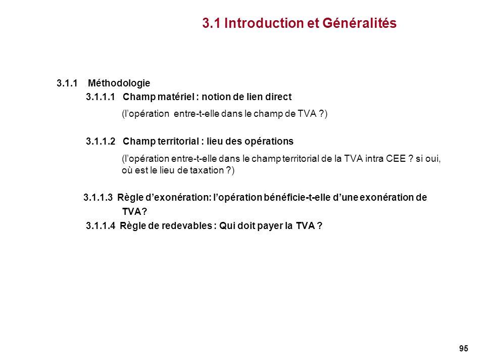 3.1 Introduction et Généralités