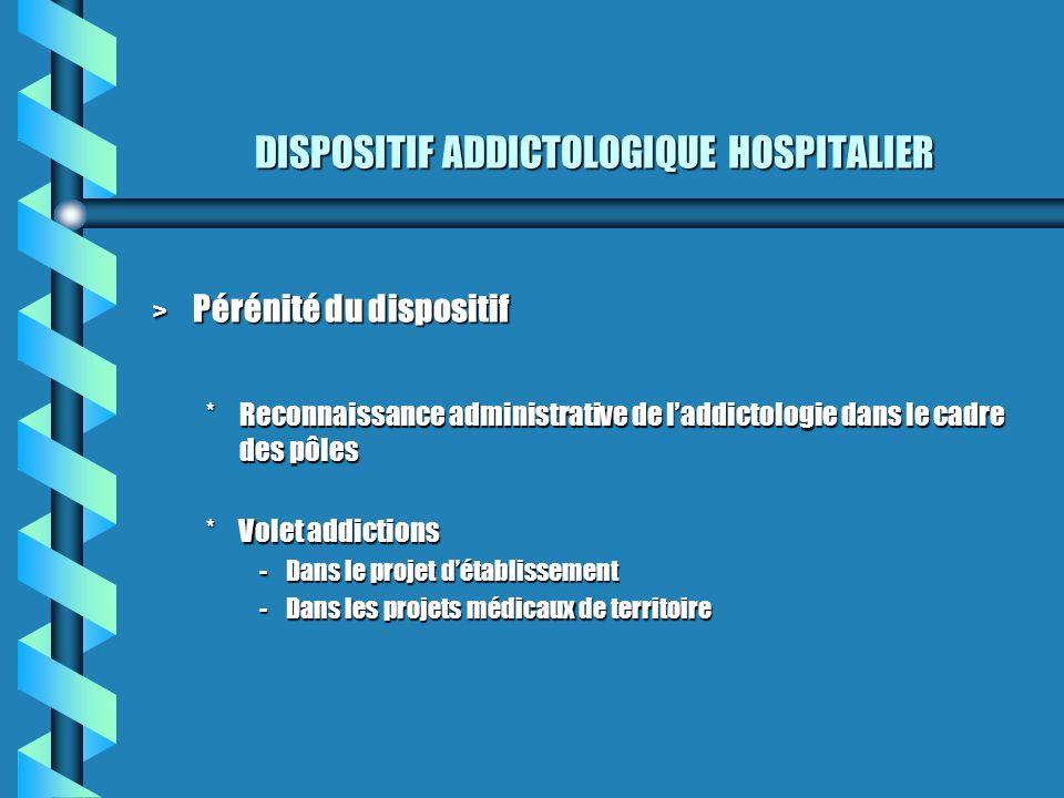 DISPOSITIF ADDICTOLOGIQUE HOSPITALIER