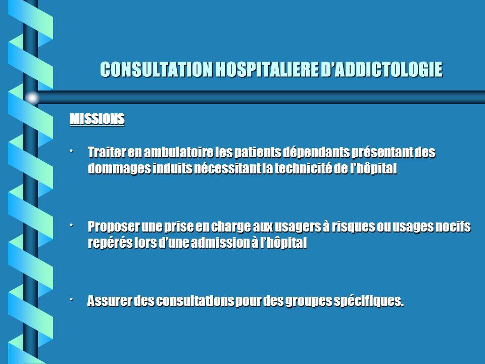 CONSULTATION HOSPITALIERE D'ADDICTOLOGIE
