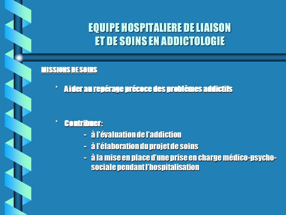 EQUIPE HOSPITALIERE DE LIAISON ET DE SOINS EN ADDICTOLOGIE