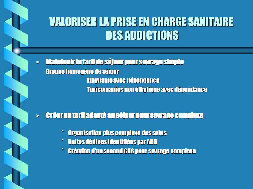 VALORISER LA PRISE EN CHARGE SANITAIRE DES ADDICTIONS