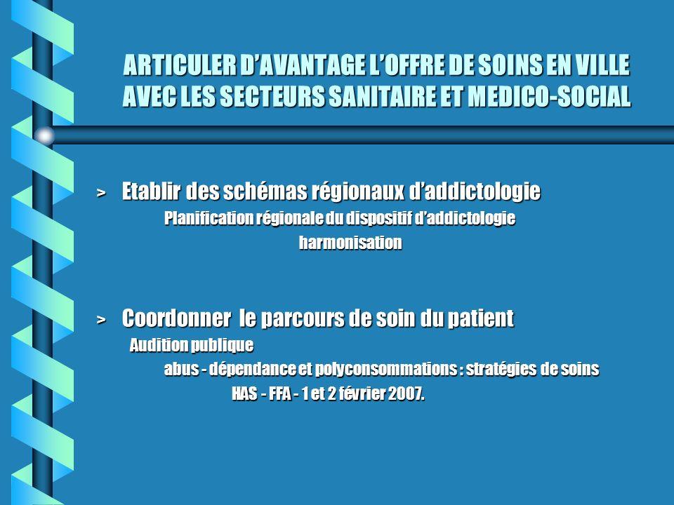ARTICULER D'AVANTAGE L'OFFRE DE SOINS EN VILLE AVEC LES SECTEURS SANITAIRE ET MEDICO-SOCIAL