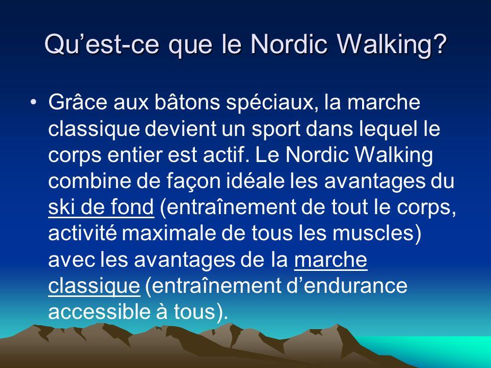 Qu'est-ce que le Nordic Walking