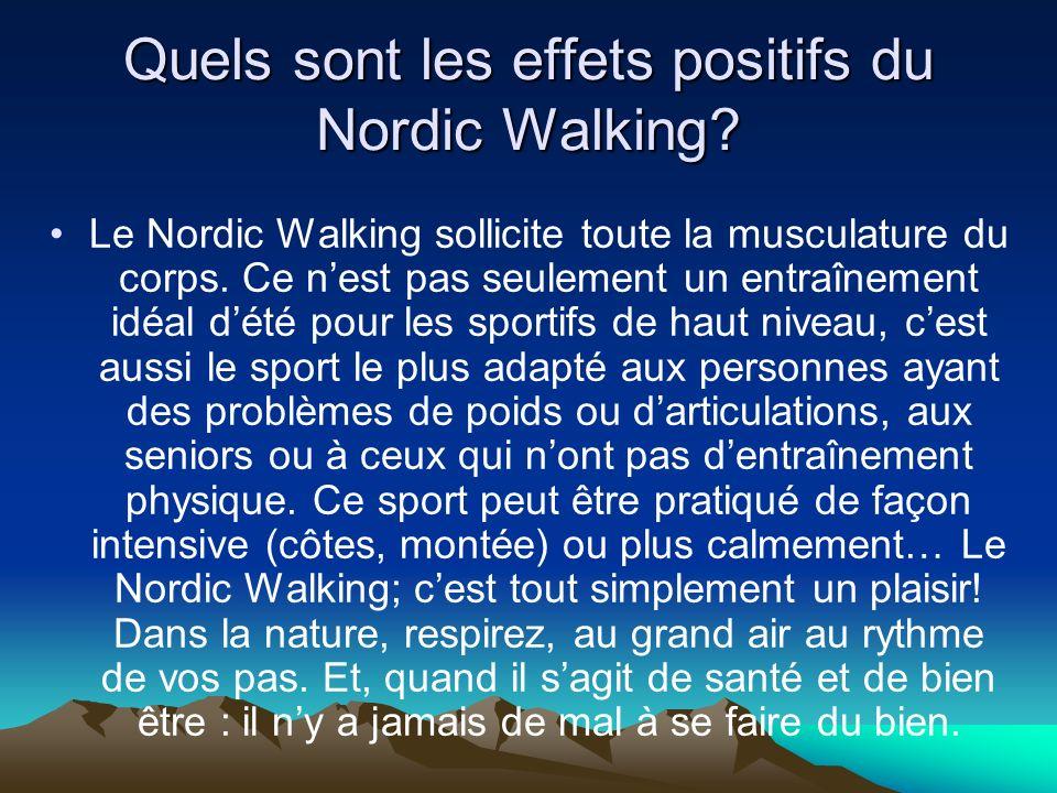 Quels sont les effets positifs du Nordic Walking
