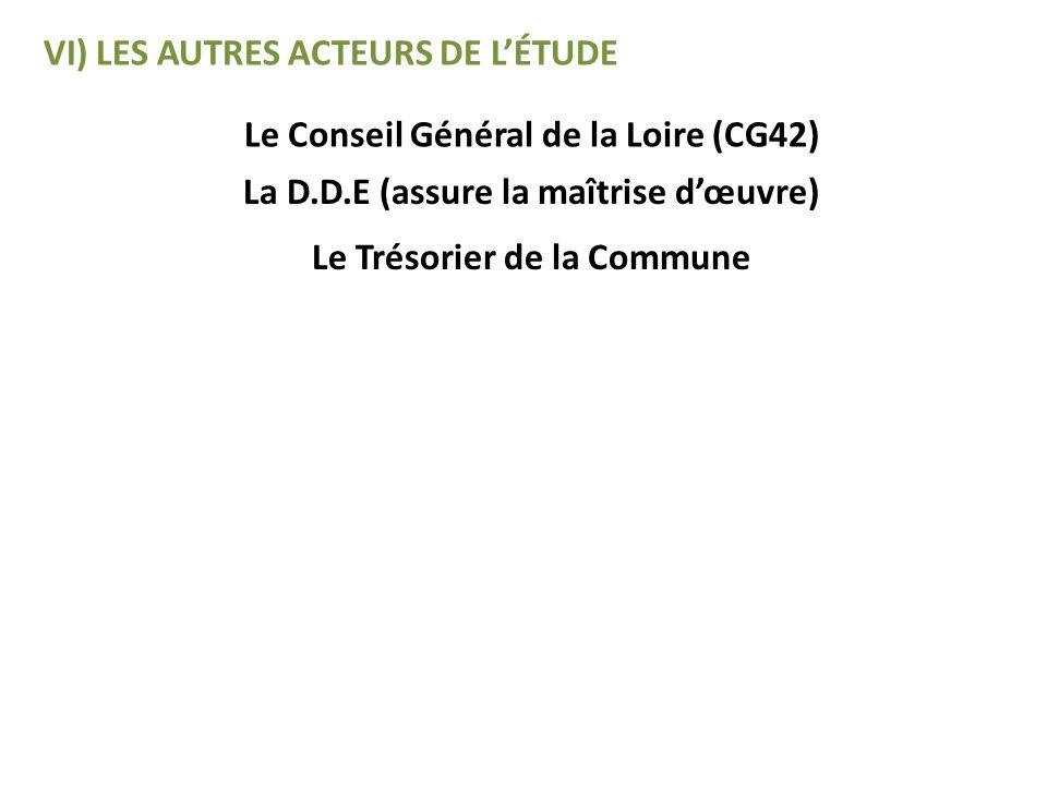 VI) LES AUTRES ACTEURS DE L'ÉTUDE