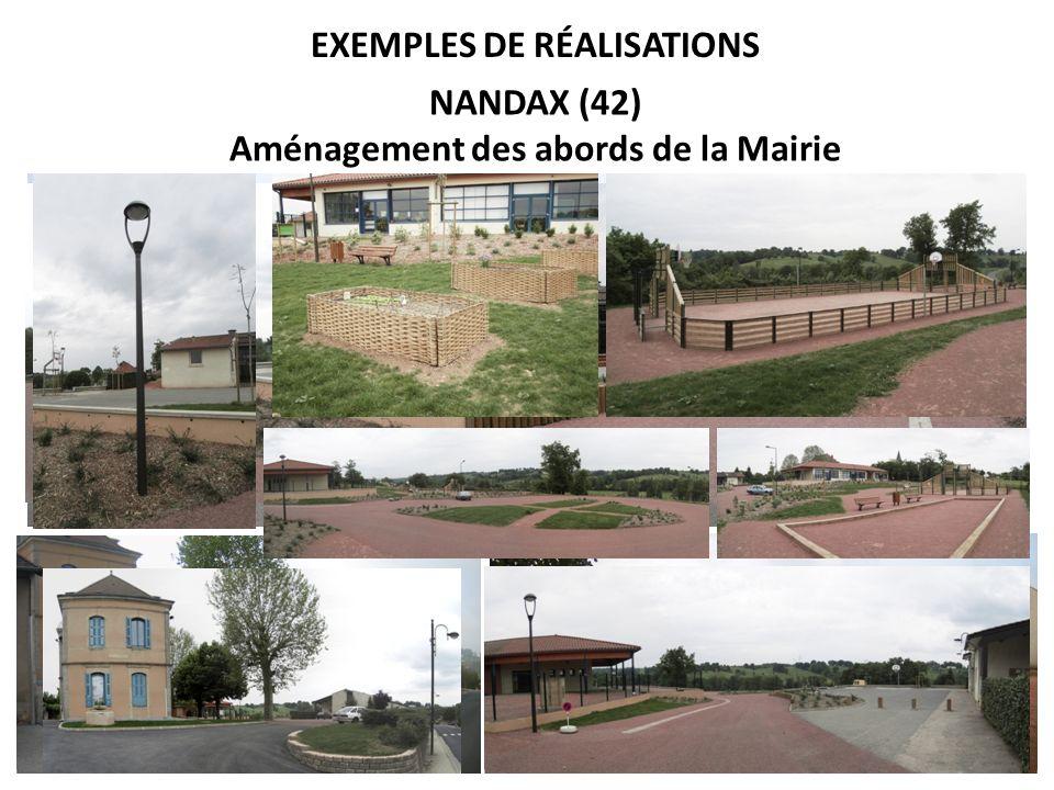 Exemples de réalisations Aménagement des abords de la Mairie