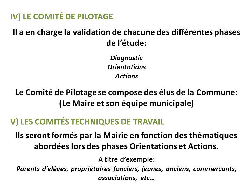 IV) Le comité de pilotage