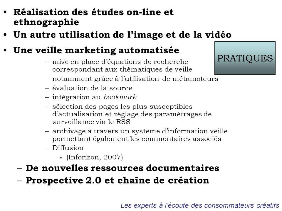 Réalisation des études on-line et ethnographie