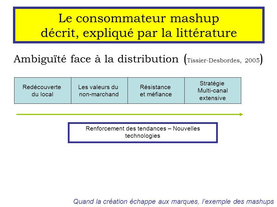 Le consommateur mashup décrit, expliqué par la littérature