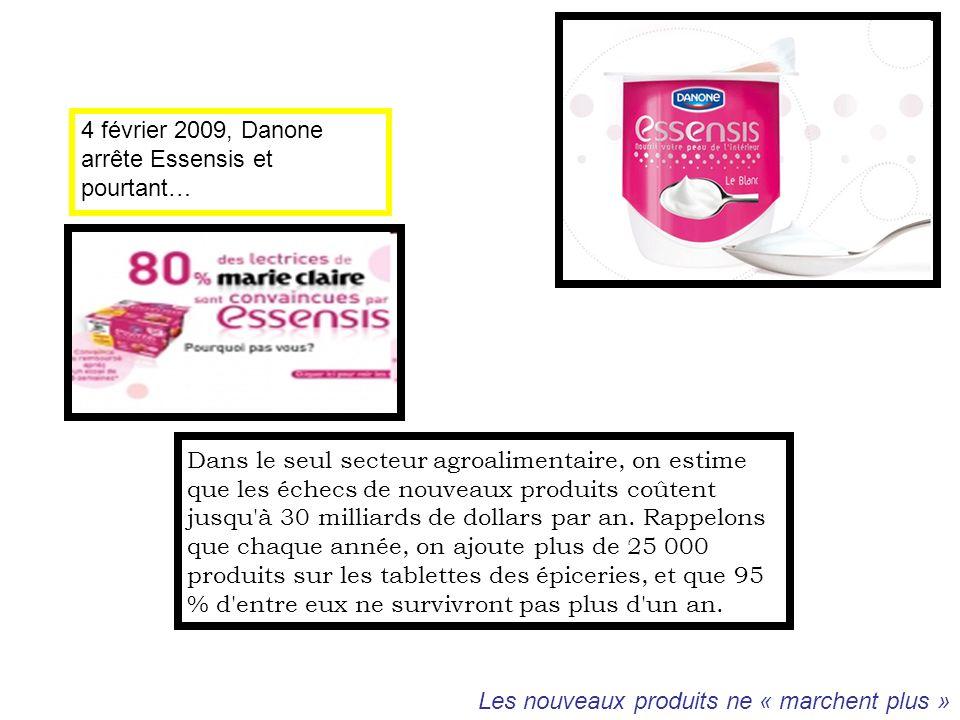 4 février 2009, Danone arrête Essensis et pourtant…