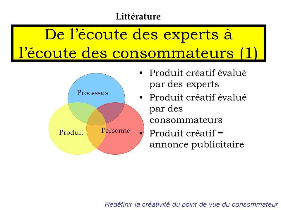 De l'écoute des experts à l'écoute des consommateurs (1)