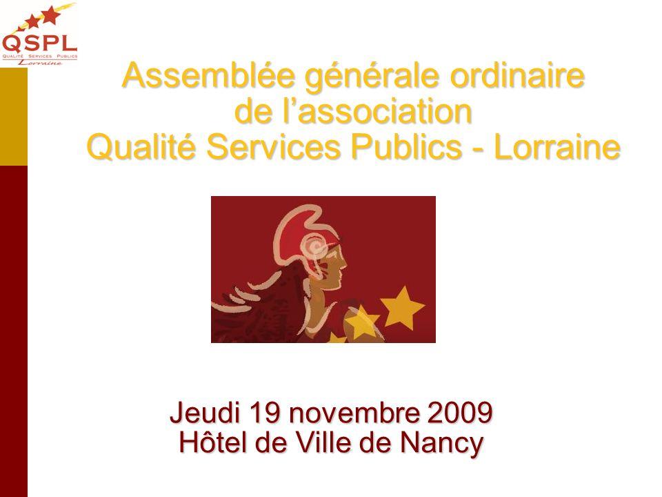 Jeudi 19 novembre 2009 Hôtel de Ville de Nancy