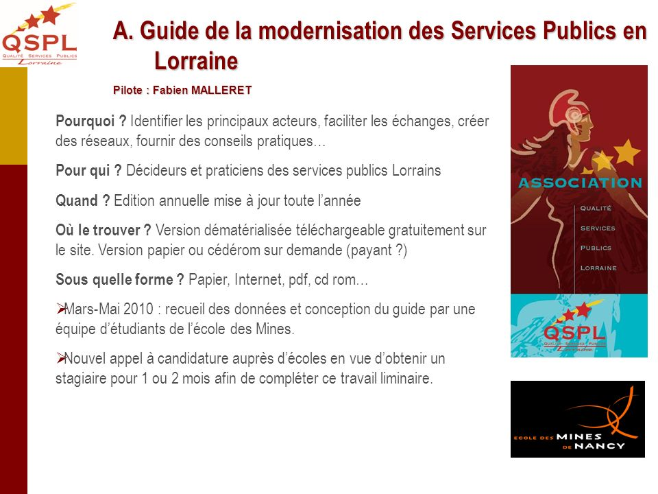 A. Guide de la modernisation des Services Publics en Lorraine
