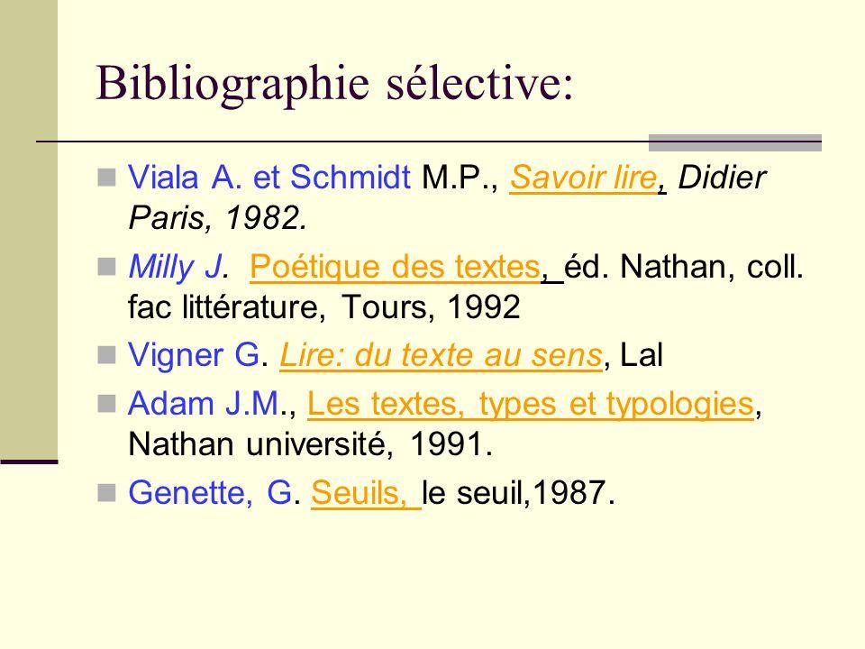 Bibliographie sélective: