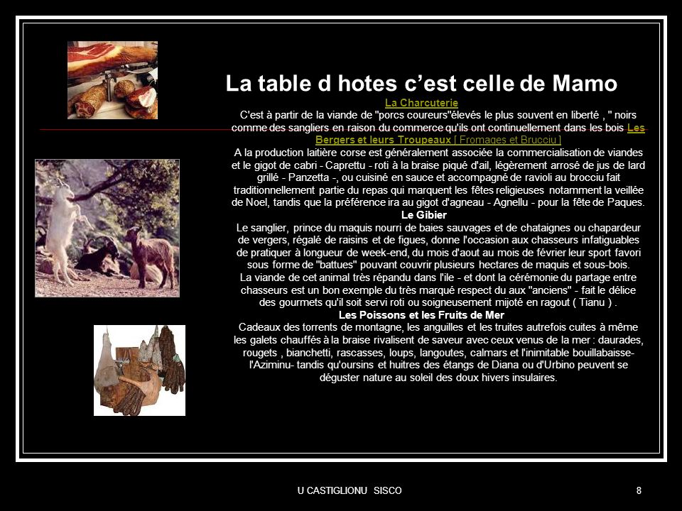 La table d hotes c'est celle de Mamo