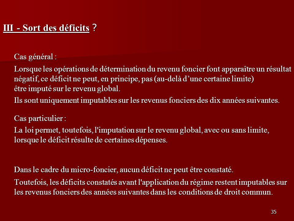 Dans le cadre du micro-foncier, aucun déficit ne peut être constaté.