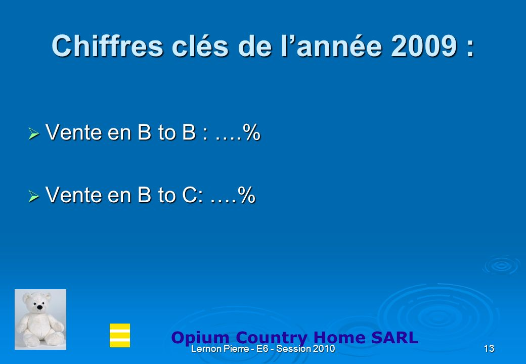 Chiffres clés de l'année 2009 :