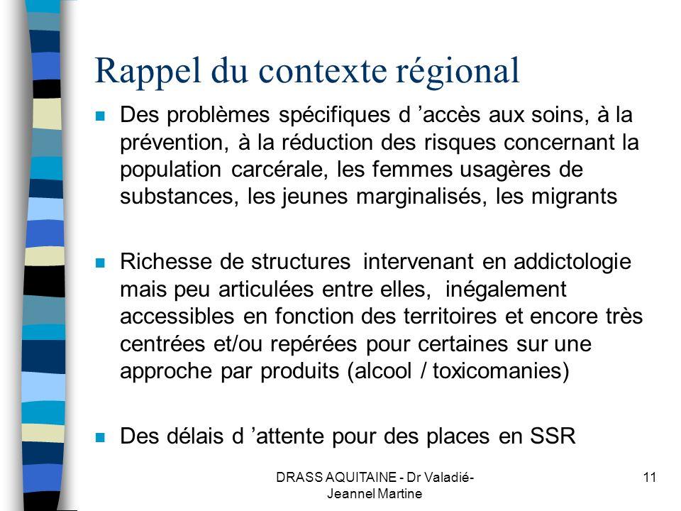 Rappel du contexte régional