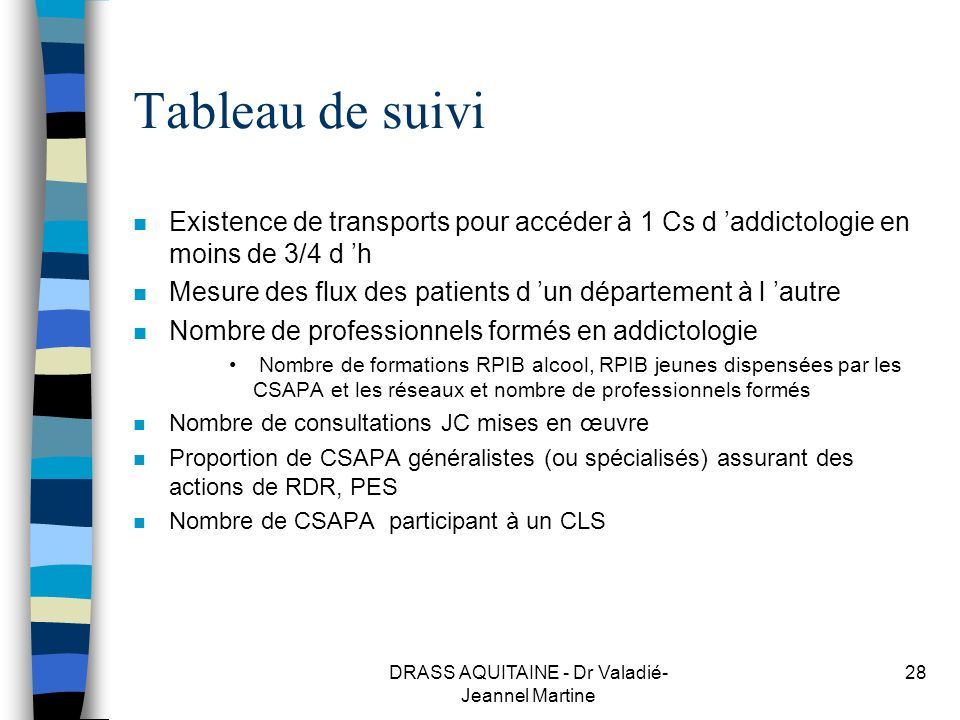 DRASS AQUITAINE - Dr Valadié-Jeannel Martine
