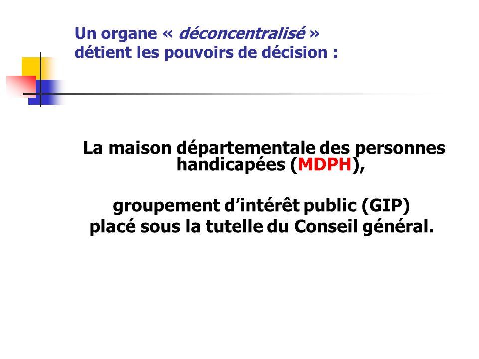 Un organe « déconcentralisé » détient les pouvoirs de décision :