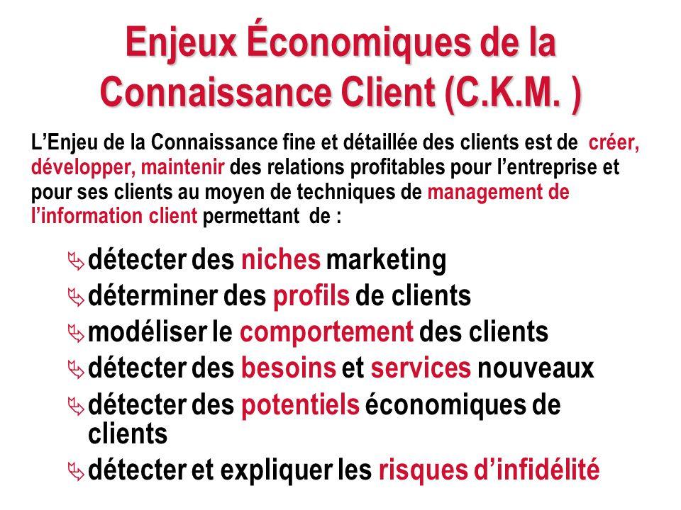Enjeux Économiques de la Connaissance Client (C.K.M. )