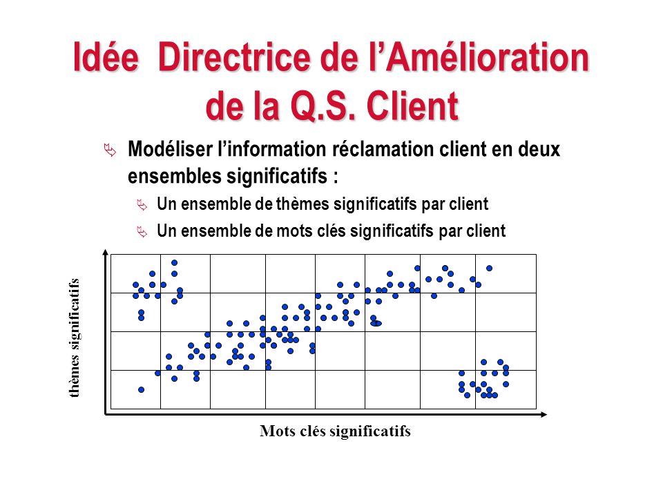 Idée Directrice de l'Amélioration de la Q.S. Client