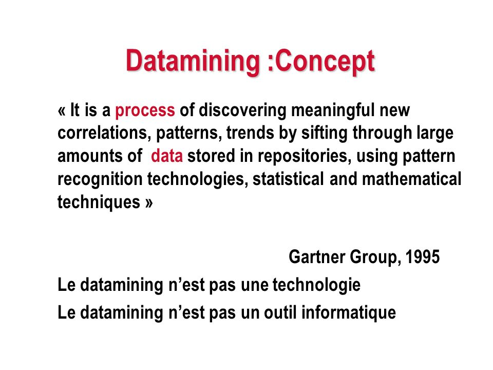 Datamining :Concept