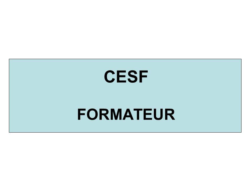CESF FORMATEUR