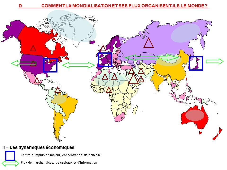 D COMMENT LA MONDIALISATION ET SES FLUX ORGANISENT-ILS LE MONDE