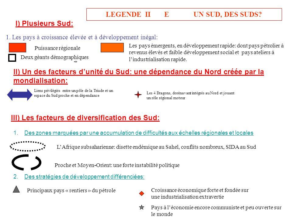 LEGENDE II E UN SUD, DES SUDS