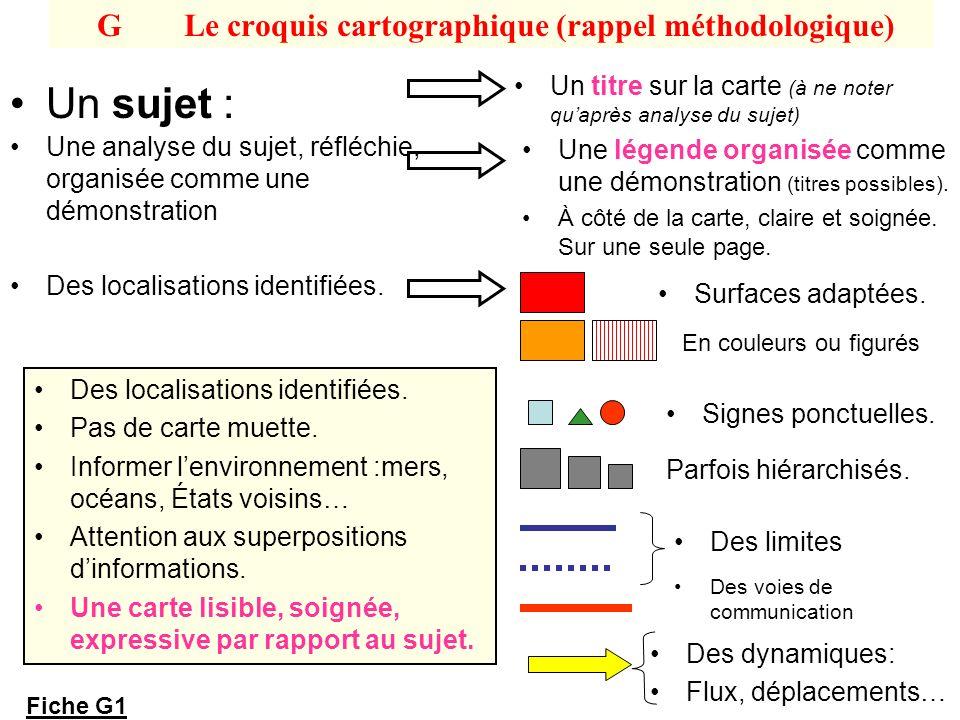 G Le croquis cartographique (rappel méthodologique)