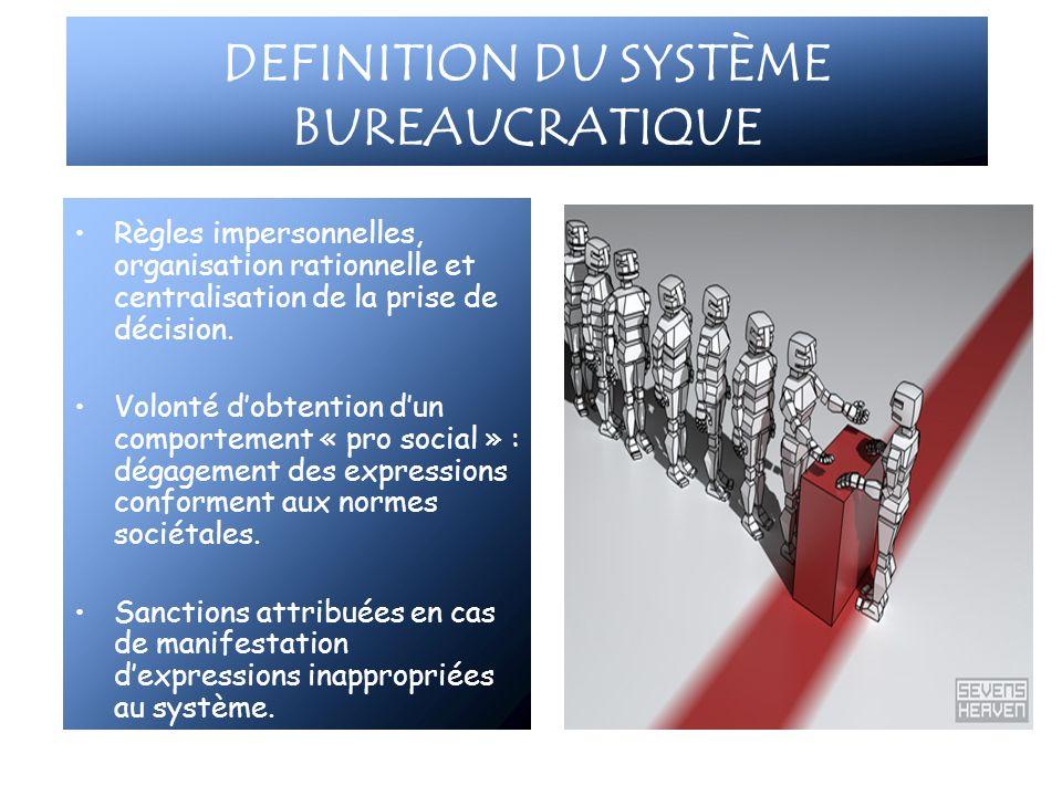 DEFINITION DU SYSTÈME BUREAUCRATIQUE