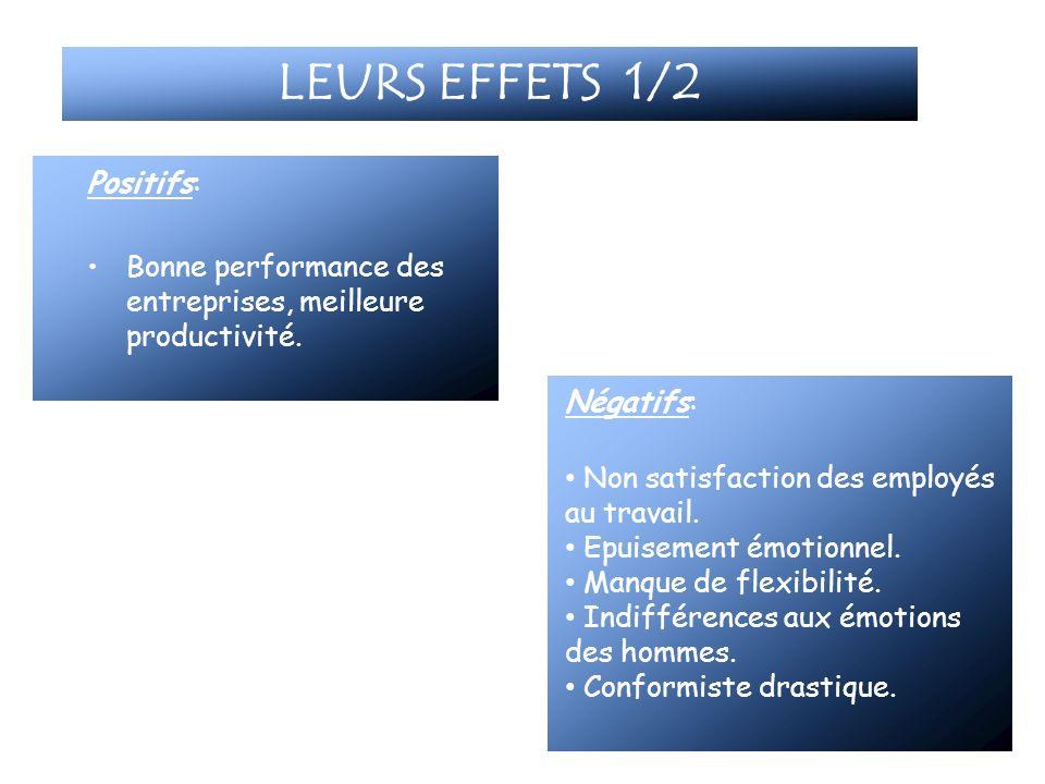 LEURS EFFETS 1/2 Positifs: