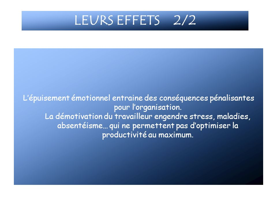 LEURS EFFETS 2/2