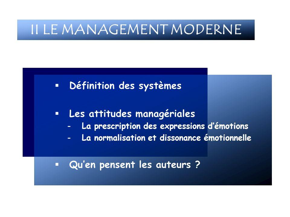 II LE MANAGEMENT MODERNE