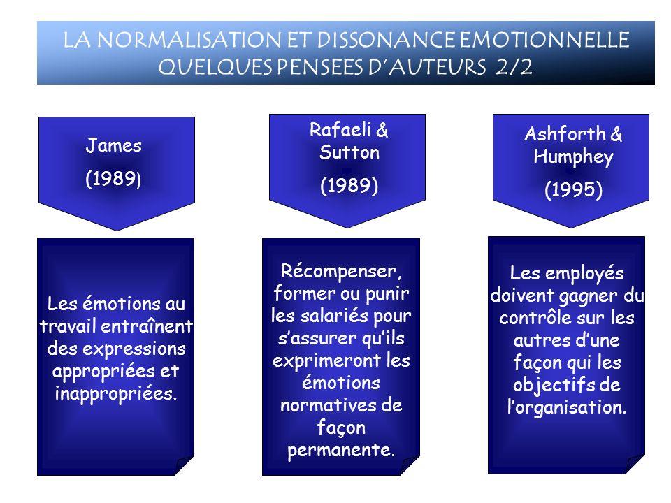 LA NORMALISATION ET DISSONANCE EMOTIONNELLE QUELQUES PENSEES D'AUTEURS 2/2